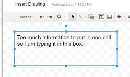insert drawing text box