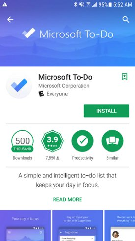 To-Do in Android Play Store