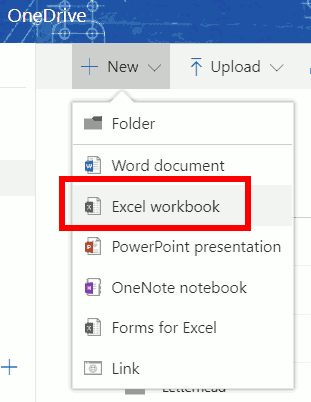 Create new Excel workbook