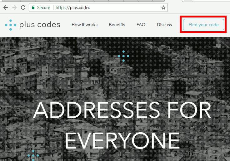 Plus Codes Website