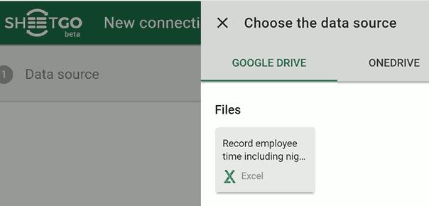Excel file in Sheetgo