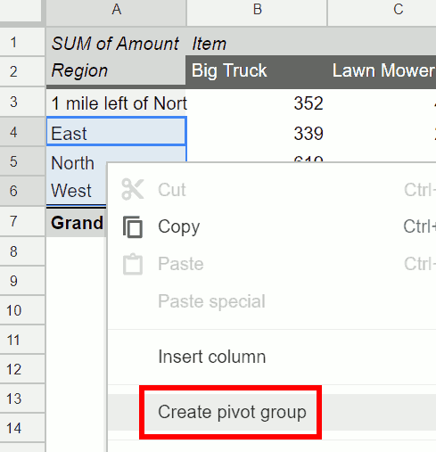 Add the Pivot Table Groups