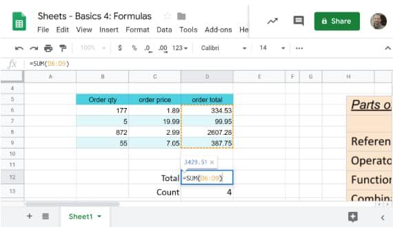thumbnail showing basic spreadsheet