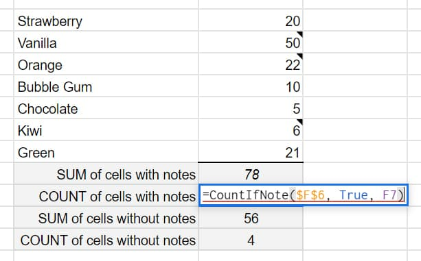 CountIfNote Formula