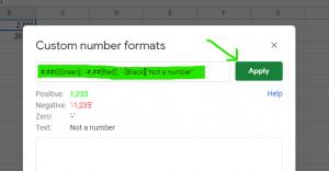 Google Sheet- Custom Colour format